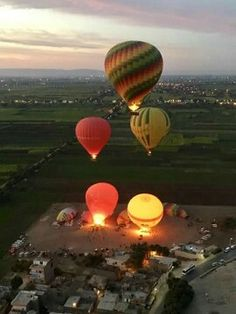 Egypt Travel, Group Tours, Luxor, Hot Air Balloon, The World's Greatest, Early Morning, Monuments, Shadows, Sunrise
