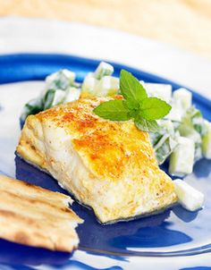 Tandoorifisk Indian Food Recipes, Camembert Cheese, Meat, Chicken, Indian Recipes, Cubs