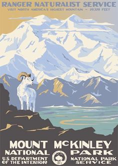 "decorate and pull color scheme in living room with ""vintage"" national parks posters"