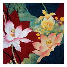 Lotus Dream II  - 22'' x 22''