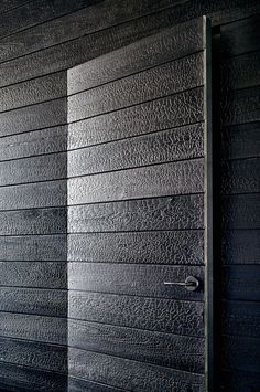 Modern Texas Prefab using charred wood siding Aamodt/Plumb Architects, Cambridge MA and Austin TX