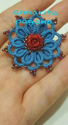 Orecchino ankars  con aggiunta di una rosa
