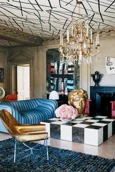 From bold colors to artisanal decor, and one-of-a-kind home design accessories, read on for great tips on creating a bold living room design! Interior Desing, Interior Exterior, Interior Design Inspiration, Interior Decorating, Decorating Tips, Luxury Interior, Room Inspiration, Colorful Interior Design, Eclectic Design