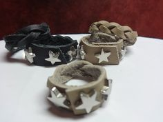Star studded and braided rings by AntoinettesOriginals on Etsy