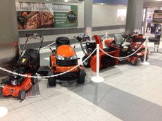 #Ariens display at #GRB Green Bay WI Airport
