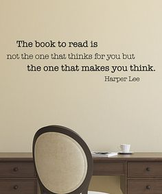 Another great find on #zulily! 'The Book to Read' Wall Quotes™ Decal #zulilyfinds