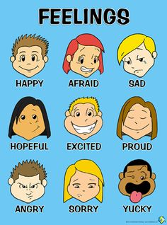 Feelings Poster for Preschoolers!  http://stores.kindlemental.com/feelings-posters/