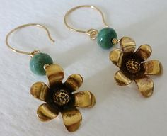 Bronze Flowers & Chrysoprase Dangle Earrings – Sara Nolte Designs