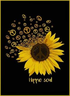 Peace , Love and Smiles. Spreading peace love and smiles is our mission Hippie Peace, Hippie Love, Hippie Style, Sunflower Quotes, Sunflower Pictures, Sunflowers And Daisies, Sun Flowers, Sunflower Drawing, Sunflower Wallpaper