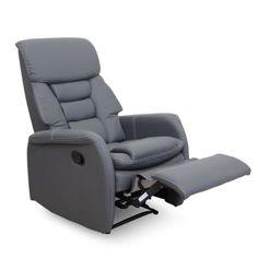 Relaxační křeslo KOMFY ekokůže šedá Massage Chair, Recliner, Relax, Lounge, Furniture, Home Decor, Products, House, Chair