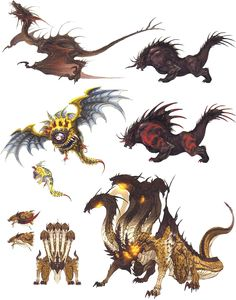 Enemies from Final Fantasy XIV: A Realm Reborn