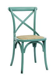 Wooden Dinner Chair in Turquoise Handmade Wood Furniture, Hand Painted Furniture, Handmade Wooden, Wooden Dining Chairs, Dining Room Furniture, Kitchen Chairs, House Doctor, Turquoise Chair, Countryside Style