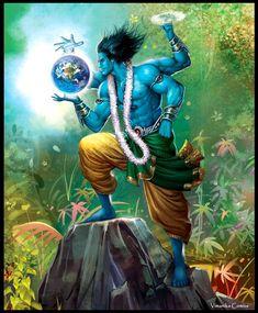 Meaning Lord Vishnu - vimanika Arts prodyuktarsa - phijhadikoma Arte Shiva, Shiva Art, Hindu Art, Mahakal Shiva, Lord Krishna Images, Radha Krishna Images, Krishna Art, Hare Krishna, Lord Krishna Hd Wallpaper
