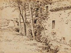 Jean Francois Millet: Water mill near Vichy, 1867