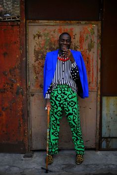 """dynamicafrica: """" Today's style inspiration: Louis Philippe de Gagoue. Hailing from both Cameroon and Cote D'Ivoire, the self-described eclectic fashion stylist. African Inspired Fashion, African Men Fashion, Africa Fashion, Mens Fashion, Fashion Outfits, Estilo Dandy, Afro Style, Glamour Shots, Mode Style"""
