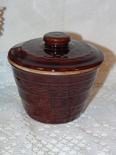 Vintage Marcrest Stoneware Grease Jar With by EmptyNestVintiques, $29.99