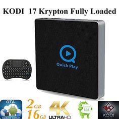 KIKI-TV-Streaming-Player Android 6.0 Marshmallow Fully Loaded Unlocked Rooted XBMC KODI 17 S912 Octa TV BOX [OTA Updater 2G 16G/4K/11AC/Ultra HD/Wireless Keyboard]
