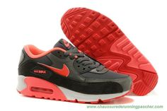 low priced b2f6c efc52 616730-009 Nike Air Max 90 Essential Gris foncé Hyper Punch-Action Rouge