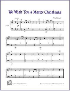 We Wish You A Merry Christmas | Free Sheet Music for Piano - http://makingmusicfun.net/htm/f_printit_free_printable_sheet_music/we_wish_you_a_merry_christmas_piano.htm