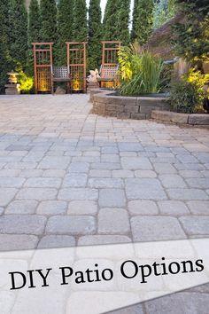diy paver patio difficulty use interlocking concrete patio pavers to turn a plain