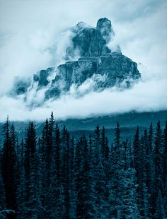 The Castle Mountain by Gregory Boratyn    (Alberta, Canada)