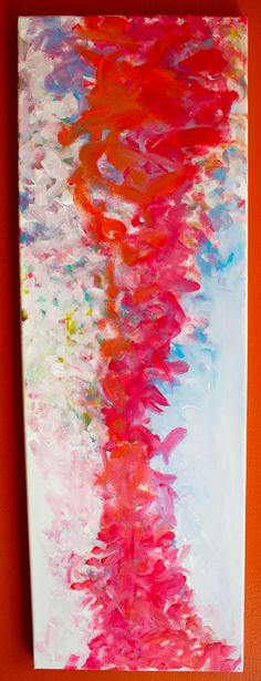 """Items similar to creative abstract painting great for living room, bedroom, or even washroom. Named """"Red Holiday"""". on Etsy Art Ideas, Room Ideas, Washroom, Acrylics, Nursery, Paintings, Living Room, Abstract, Bedroom"""