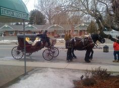 Aldario's in Milford CT. We love the horse drawn carriage idea!