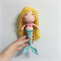 Mermaid amigurumi doll by Cranberries Knot on Etsy