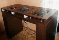 wood Dj table for 2x cdj 1000 Djm 500/600/800 (ebay)