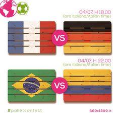 Tra queste squadre il vincitore dei #mondiali, e tra di voi quello del nostro #palletcontest! #Brasil2014 #ecodesign #idee #green