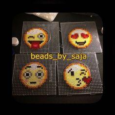 Emojis hama beads by beads_by_saja