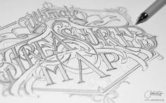 Hand Lettering IV by Martin Schmetzer, via Behance