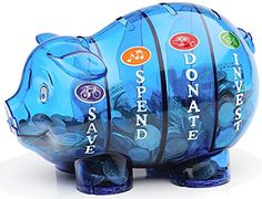 This Pink Money Savvy Pig Bank by Money Savvy Generation is perfect! Teaching Kids Money, Kids Learning, Pig Bank, Non Toy Gifts, How To Teach Kids, Help Kids, Money Bank, Gifts For Kids, Ideas