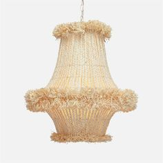 Lidor Raffia Chandelier Hand Braided Raffia with Frayed Ends 5 Type B – Incandescent, 40 watt max Bulbs Canopy x 1 in Napa 1 in Palm Beach Modern Lighting, Lighting Design, Lighting Ideas, House Lighting, Outdoor Lighting, Ceiling Fixtures, Ceiling Lights, Hawaii, Concrete Materials
