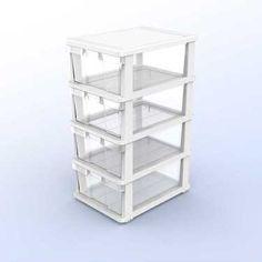 Henledar 4 Drawer Cabinet Clear