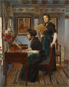 Walther Firle (1859–1929) - Die Gesangsstunde (The Singing Lesson)