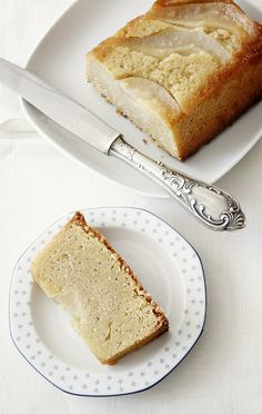 Pear and almond cake.