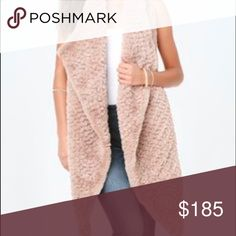 Nwt Bebe high-low faux fur Vest New pretty pink color. Super soft and comfy. Looks great with any outfit. Size m/l will fit a small bebe Jackets & Coats Vests