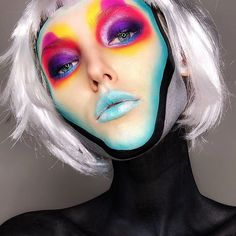 Pop Art Makeup, Makeup Inspo, Hair Makeup, Best Makeup Products, Halloween Face Makeup, Fashion Looks, Girly, Make Up, My Style