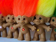 Troll dolls... Los metía en las gavetas para dormir jejeje