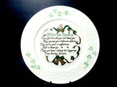 Belleek A Marriage Blessing Plate, Irish Marriage Blessing, Irish Wedding Gift, Irish Bride, Irish Wedding Gift, Ireland, Collectible Plate