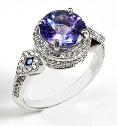 Ladies its not a must your engagement ring to be a diamond ring, it can be a tanzanite. the exquisite Tanzanite ring by Mark Schneider . Tanzanite Jewelry, Gemstone Jewelry, Tanzanite Gemstone, Tanzanite Engagement Ring, Engagement Rings, I Love Jewelry, Fine Jewelry, Jewelry Rings, Love Ring