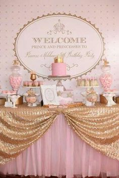 Classy pink and gold party.