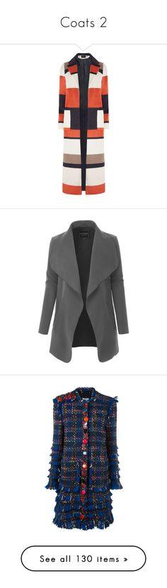 """""""Coats 2"""" by wanda-india-acosta ❤ liked on Polyvore featuring outerwear, coats, orange, orange coat, dorothy perkins coats, striped coat, dorothy perkins, maxi coat, jackets and lightweight jacket"""