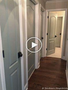 Peindre les portes intérieures et changer la Armoire, Divider, Storage, Room, Furniture, Home Decor, Paint Interior Doors, Grey Interior Doors, Farmhouse Interior