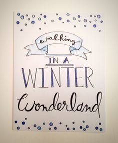 Walking in a Winter Wonderland - Christmas card, holiday card, winter theme card, christmas song lyrics, unique christmas card by CLAIREandJAMESdesign on Etsy