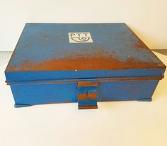 For sale old PTT (Dutch post) metal tin  40x32x12 cms Great industrial look. 1960s