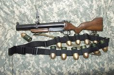 """Tom """"The Mad Bomber"""": Main weapon. Zombie Weapons, Ninja Weapons, Weapons Guns, Guns And Ammo, Zombie Apocalypse, Tactical Equipment, Military Equipment, Tactical Gear, M79 Grenade Launcher"""