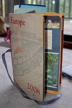 Travel journal ... how to make with manilla envelopes... love this, now I want to make one of these!