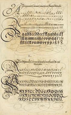 Paul Franck calligraphy book archive! Kunstrichtige Schreibart : allerhand Versalie[n...